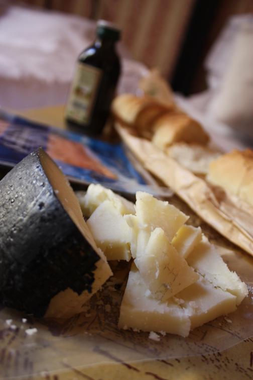 Bread and Cheese = Relaxing Dinner
